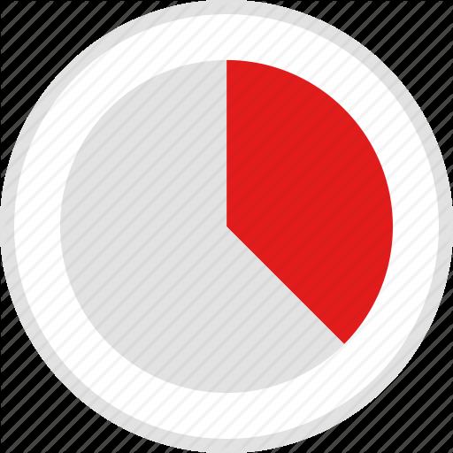 Chart, Data, Graphic, Info, Quarters, Three Icon Icons Flat