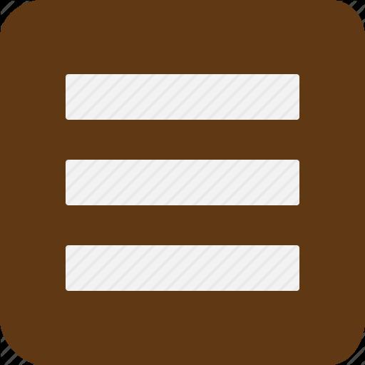 Hamburger, Home, Lines, Menu, Shape, Three Icon
