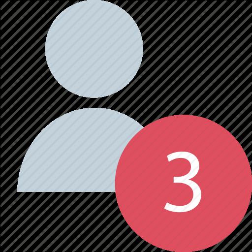 Number, People, Three Icon