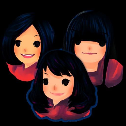 Three Girls Icon Artificial Girl Iconset Teekatas Suwannakrua