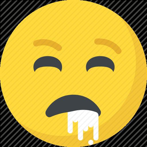 Emoticon, Nauseated, Puke, Throw Up, Vomiting Face Icon