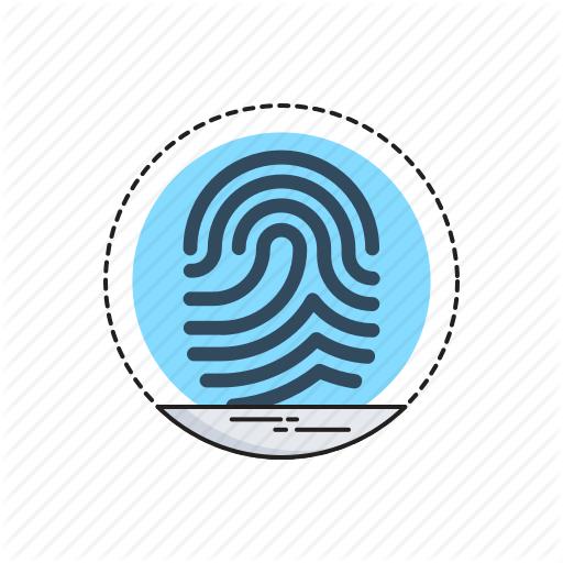 Biometric, Data, Identity, Scanning, Thumbprint Icon