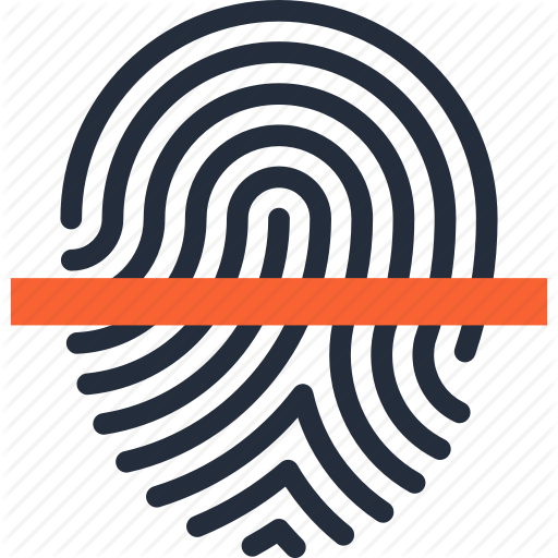 Fingerprint Print Unique Icon Vector Image Can Also Be Used
