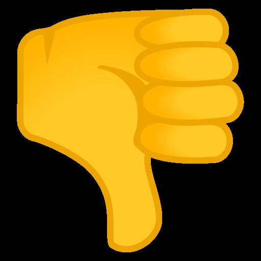 Thumbs Down Icon Noto Emoji People Bodyparts Iconset Google
