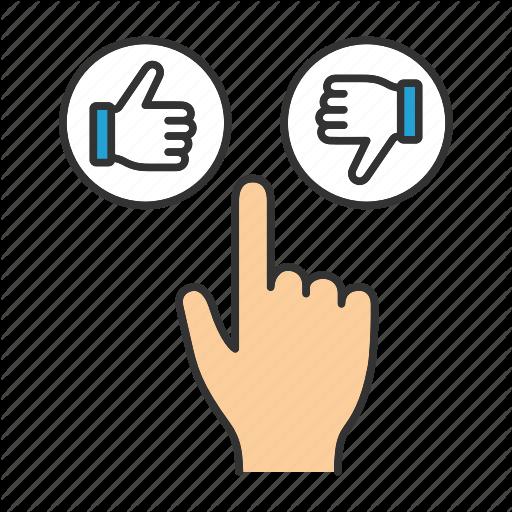 Click, Dislike, Finger, Like, Press, Thumb Down, Thumb Up Icon