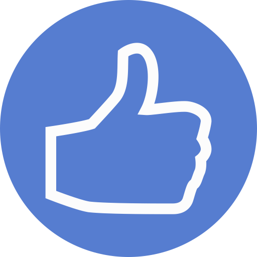 Election Thumbs Up Outline Icon Circle Blue Election Iconset