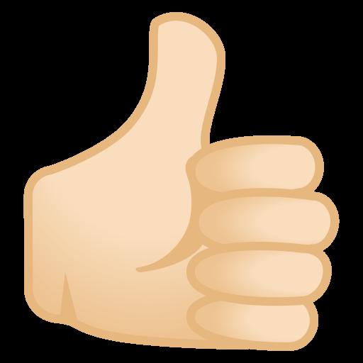 Thumbs Up Light Skin Tone Icon Noto Emoji People Bodyparts