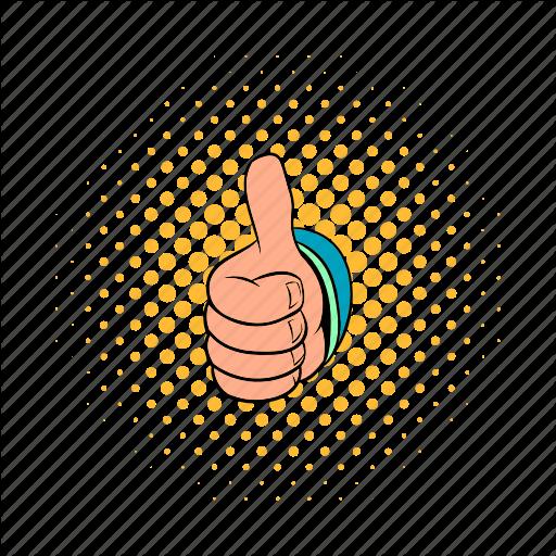 Comics, Finger, Good, Hand, Success, Thumb, Up Icon