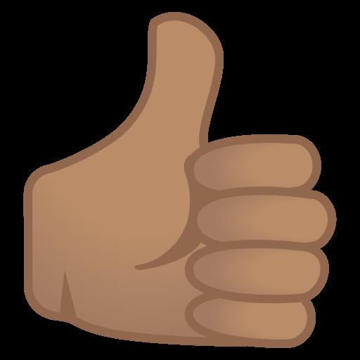 Thumbs Up Medium Skin Tone Icon Noto Emoji People Bodyparts