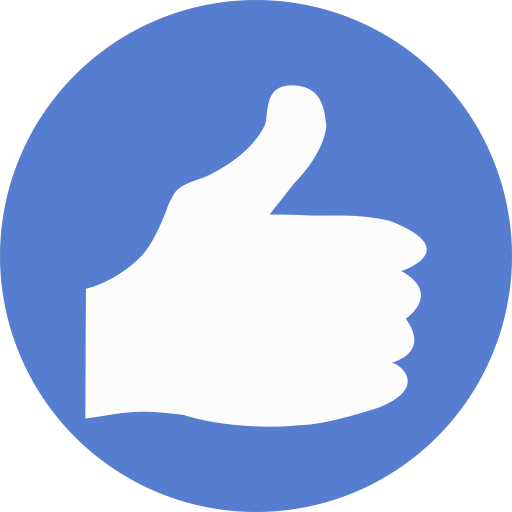 Election Thumbs Up Icon Circle Blue Election Iconset Icon Archive