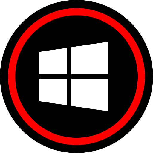 Media, Online, Social, Windows Icon Red Icons