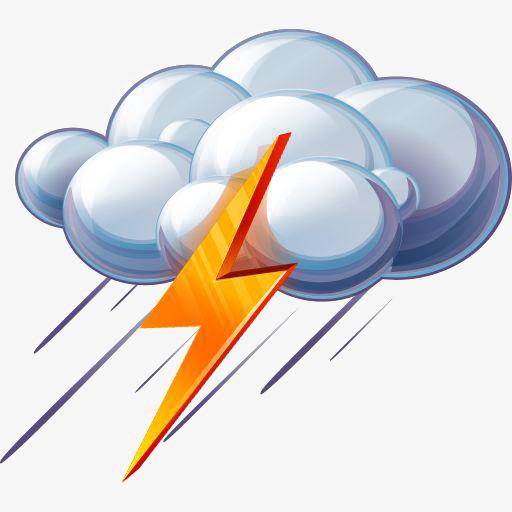 Thunderstorm Lightning Weather Icon, Lightning Clipart, Weather