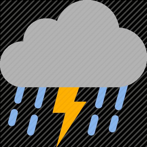 Lightning, Rain, Raining, Storm, Thunder, Thunderstorm, Weather Icon