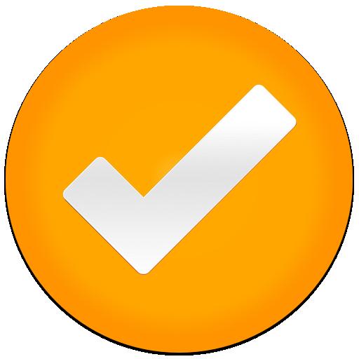 Orange Check Tick Icon