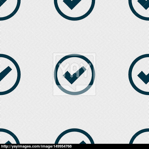 Check Mark Sign Icon Confirm Approved Symbol Seamless Abstract