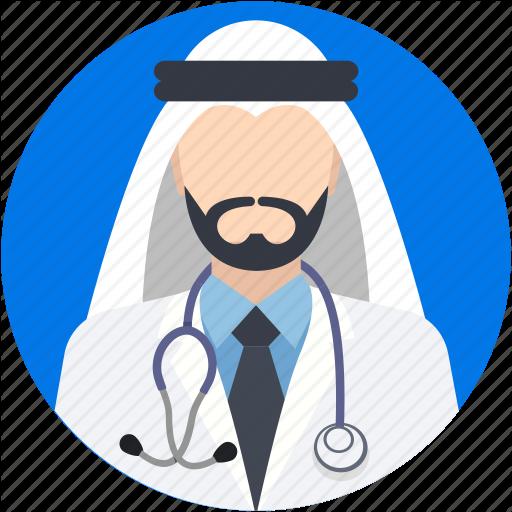 Arab, Arabian, Arabic Doctor, Doctor, Muslim Icon
