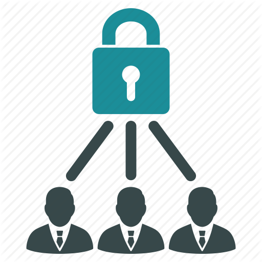 Company, Connect, Lock, Password, People, Security, Users Icon