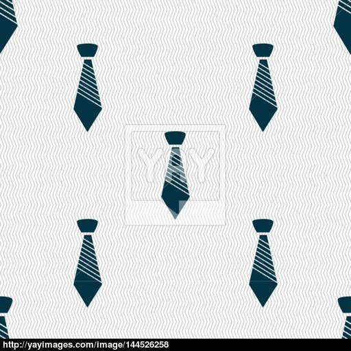 Tie Sign Icon Business Clothes Symbol Seamless Abstract