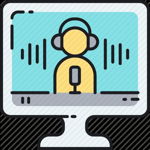 Audio, Microphone, Online Radio, Podcast, Record, Recording Icon