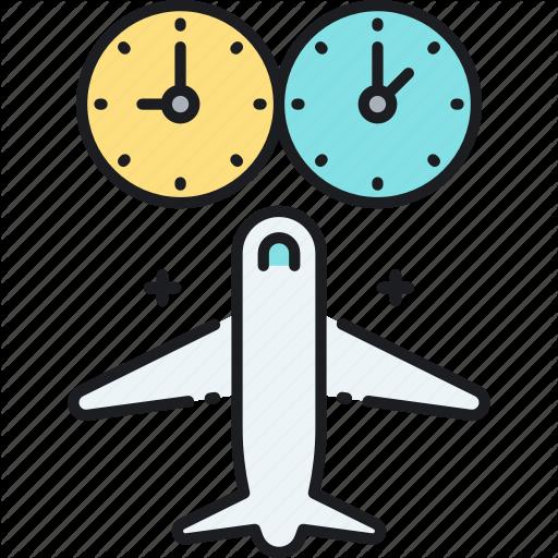 Jet, Jet Lag, Lag, Timezone Icon