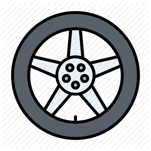 Alloy, Automotive, Car Parts, Repair, Service, Tire, Wheel Icon
