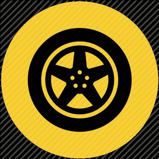 Car, Part, Tire, Tires, Wheel Icon