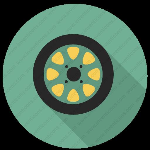Download Rubber Wheel,rubber Tire,wheel,rubber Icon Inventicons
