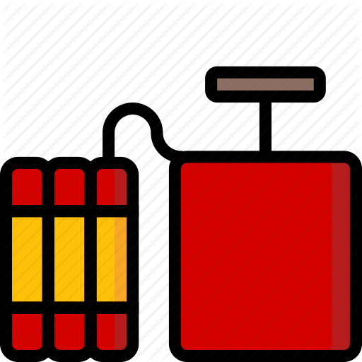 Bomb, Color, Explosive, Plunger, Tnt, Weapon, Weaponry Icon