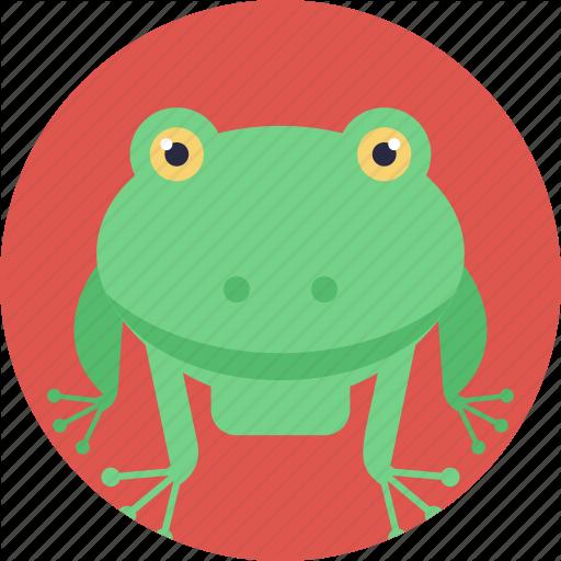 Animal, Cartoon Frog, Frog, Land Animal, Toad Icon