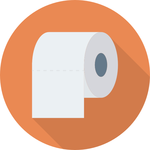 Toilet Paper Icon Medical Dinosoftlabs