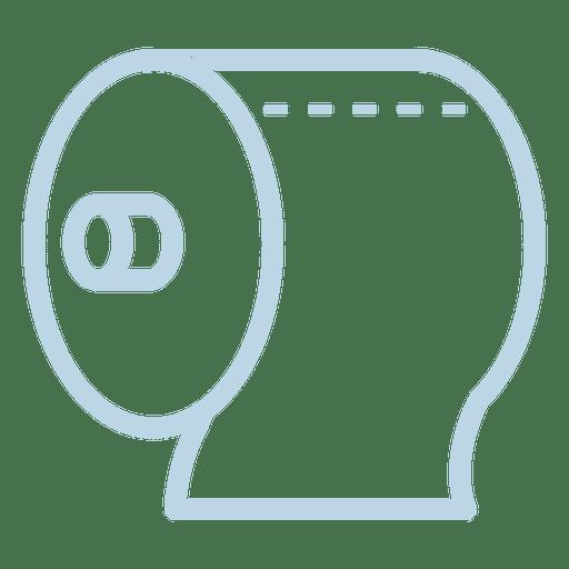 Toilet Tissue Line Icon
