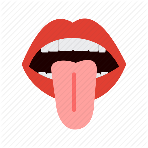 Face, Human, Lips, Mouth, Sticking, Teeth, Tongue Icon