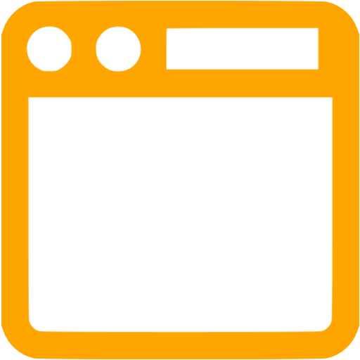 Orange Top Navigation Toolbar Icon
