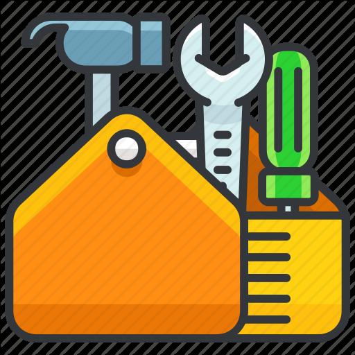Construction, Equipment, Full, Maintenance, Tool, Toolbox Icon