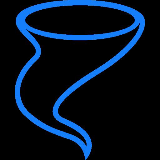 Tornado Outline Black Icon