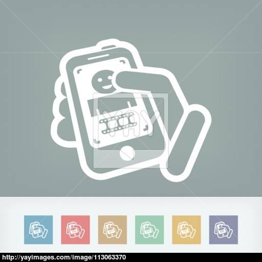 Video Touchscreen Icon Vector