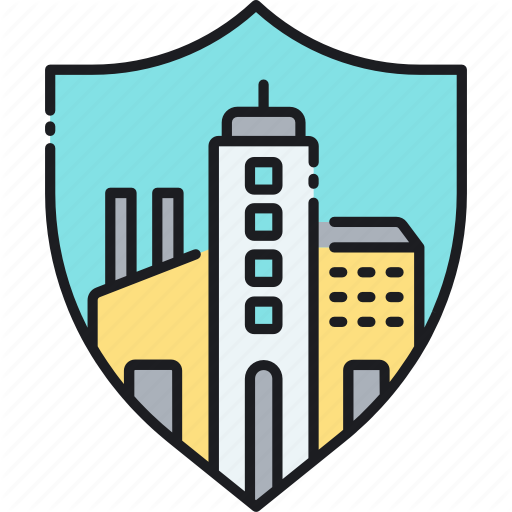 Building, City, Insurance, Property, Town Icon