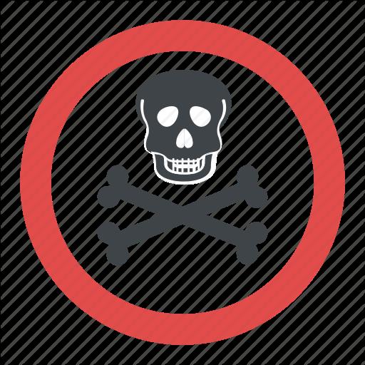 Hazard Symbol, Poison Symbol, Skull And Crossbones, Toxic Symbol