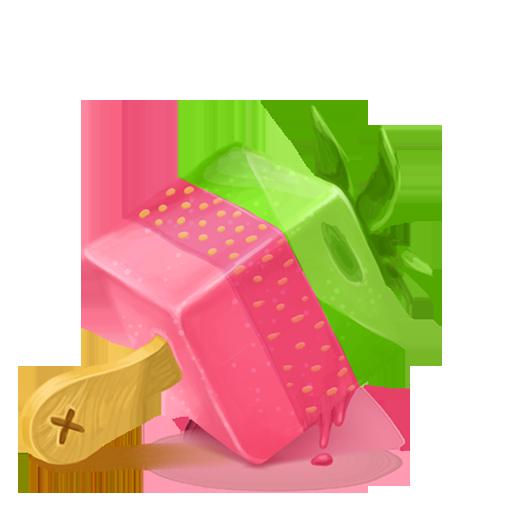 Box Ice Cream Strawberry Icon Cubes Art Iconset Klukeart