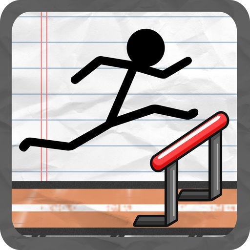 Stick Man Track And Field Gym Nastics Jump Er Course