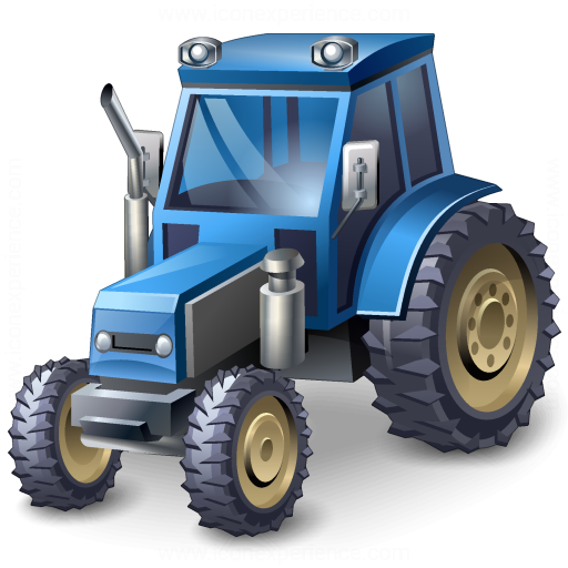 Iconexperience V Collection Tractor Blue Icon