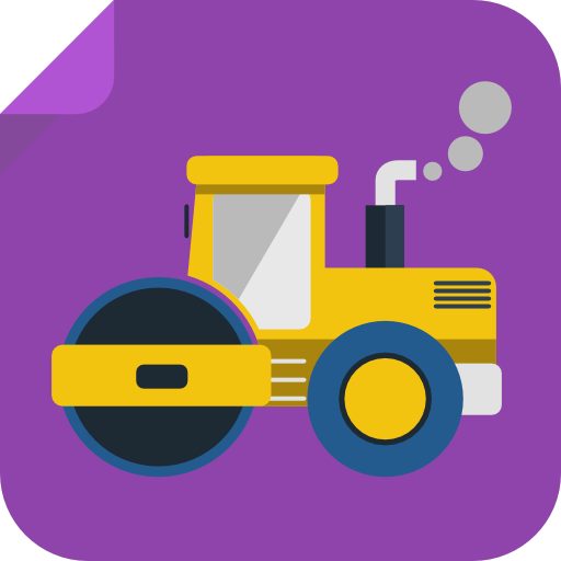 Tractor Icon Square Iconset Flat