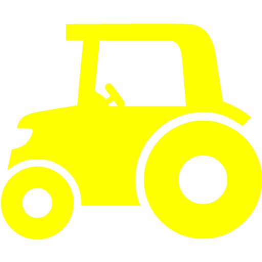Yellow Tractor Icon