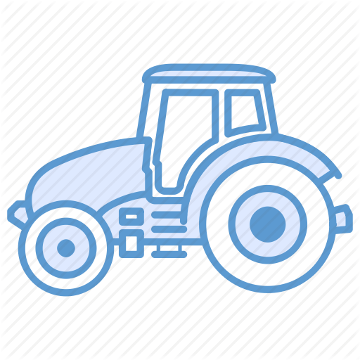 Agriculture, Farm Tractor, Tractor, Transportation Icon