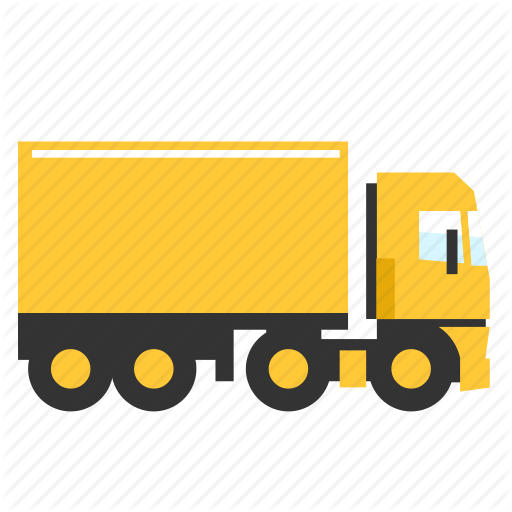 Box, Cargo, Semi, Trailer, Transport, Truck, Trucking Icon
