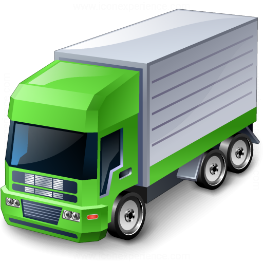 Iconexperience V Collection Truck Green Icon