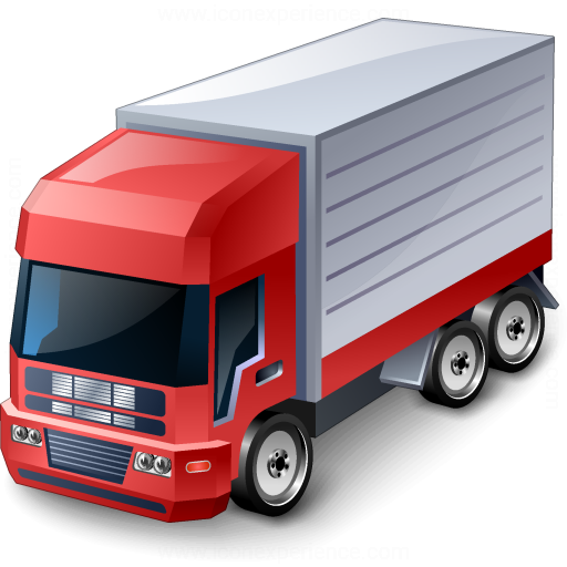 Iconexperience V Collection Truck Red Icon