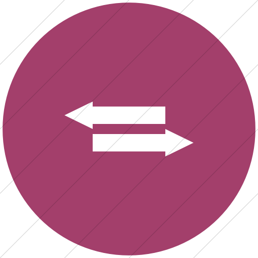 Flat Circle White On Pink Iconathon Fair Trade Icon