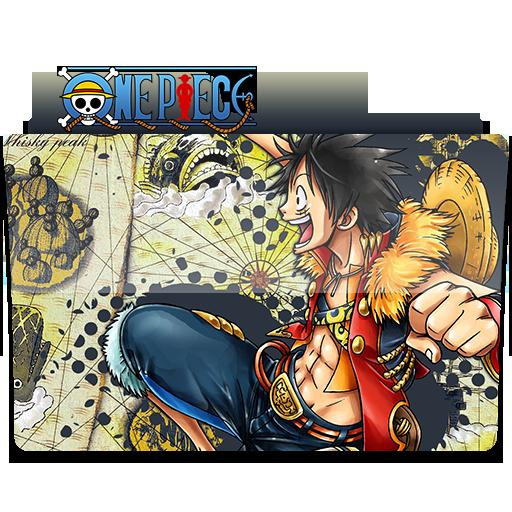 One Piece Folder Icon Luffy! Anime One, One Piece
