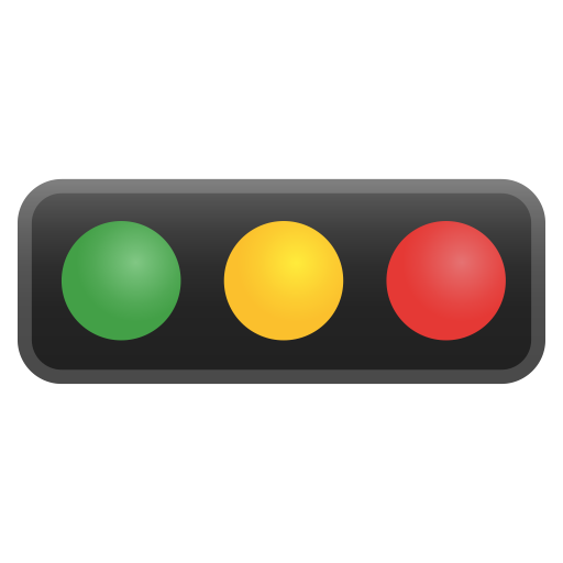 Horizontal Traffic Light Icon Noto Emoji Travel Places Iconset